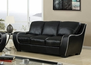 Global Furniture U8080-BL-S Black Sofa