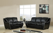 Global Furniture U8080-BL-S+L Black Sofa And Loveseat