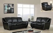 Global Furniture U8080-BL-S+L+C Black Sofa And Loveseat And Chair
