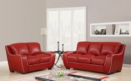Global Furniture U8080-RED -S+L Red Sofa And Loveseat