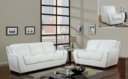 Global Furniture U8080-WH -S+L+C White Sofa And Loveseat And Chair
