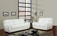 Global Furniture U8080-WH -S+L White Sofa And Loveseat