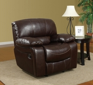 Global U8122-R Burgundy Bonded Leather Glider Recliner