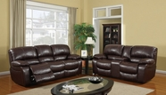 Global Furniture U8122-S+L Burgundy Bonded Leather Sofa And Loveseat