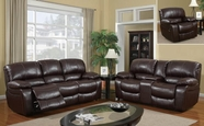 Global Furniture U8122-S+L+C Burgundy Bonded Leather Sofa And Loveseat And Chair