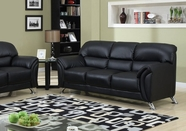 Global Furniture U9103-BL-S Black Vinyl Sofa