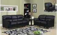 Global Furniture U9103-BL-S+L+C Black Vinyl Sofa And Loveseat And Chair