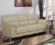 Global Furniture U9103-CAPP-S Cappuccino Vinyl Sofa