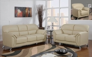 Global Furniture U9103-CAPP-S+L+C Cappuccino Vinyl Sofa And Loveseat And Chair