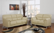 Global U9103-Capp-S+L Cappuccino Vinyl Sofa And Loveseat