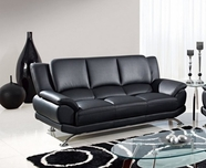 Global Furniture U9908-BL-S Black Bonded Leather Sofa