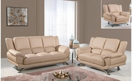 Global U9908-Capp-S+L+C Cappuccino Bonded Leather Sofa And Loveseat And Chair