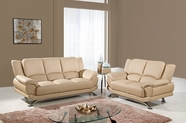 Global U9908-Capp-S+L Cappuccino Bonded Leather Sofa And Loveseat