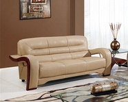 Global Furniture U992-CAPP-S Cappuccino Bonded Leather Sofa