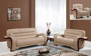 Global U992-Capp-S+L+C Cappuccino Bonded Leather Sofa And Loveseat And Chair