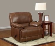 Global Furniture U9963-R Brown Bonded Leather Rocker Recliner