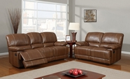Global Furniture U9963-S+L Brown Bonded Leather Sofa And Loveseat