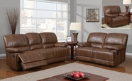 Global Furniture U9963-S+L+C Brown Bonded Leather Sofa And Loveseat And Chair