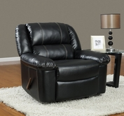 Global Furniture U9966-R Black Bonded Leather Rocker Recliner