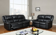 Global Furniture U9966-S+L Black Bonded Leather Sofa And Loveseat