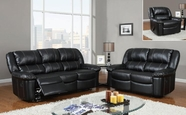 Global Furniture U9966-S+L+C Black Bonded Leather Sofa And Loveseat And Chair