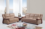 Global Ua1411-S+L Bonded Leather Sofa And Loveseat