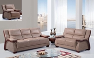 Global Ua1411-S+L+C Bonded Leather Sofa And Loveseat And Chair