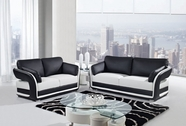 Global Furniture UA189-WH/BL-S+L Bonded Leather Sofa And Loveseat