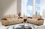 Global Furniture UA223-CAPP-S+L Bonded Leather Sofa And Loveseat