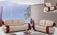 Global Furniture UA230-CAPP-S+L+C Leather/Match Sofa And Loveseat And Chair