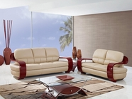 Global Furniture UA230-CAPP-S+L Leather/Match Sofa And Loveseat