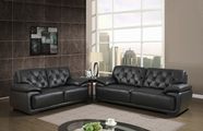 Global U1066-BL Bonded Leather Sofa Set