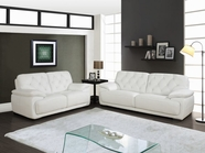 Global U1066-WH Bonded Leather Sofa Set