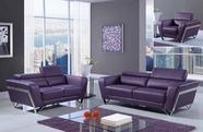 Global U7120-PUR-S-L Sofa Set