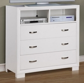Home Elegance 1313W-11 TV CHEST, WHITE
