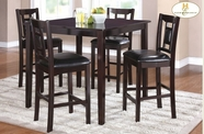 Home Elegance 2559-36 5-Piece Pack Counter Height Set