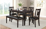 Home Elegance 2559 6-Piece Pack Dinette Set