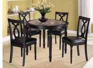 Home Elegance 2566 5PC Round Dinette Set - Faux Marble