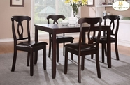 Home Elegance 2567 5-Piece Pack Dinette Set