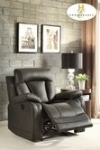Home Elegance Ackerman 8500GRY-1 RECLINER CHAIR, GREY BONDED LTHR MATCH