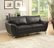 Home Elegance Chaska 8523BLK-3 SOFA, BLACK BONDED LEATHER MATCH