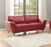 Home Elegance Chaska 8523RED-3 SOFA, RED BONDED LEATHER MATCH