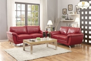 Home Elegance Chaska 8523Red Sofa Set