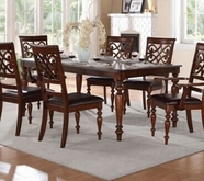 Home Elegance Creswell 5056-78 Dining Tbl, Chry Vnr