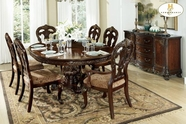 Home Elegance Deryn Park 2243-76-76B-2243S Dining Table Set