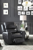 Home Elegance Gannet 8529BLK-1 CHAIR, RCLNER, BLK BNDED MATCH