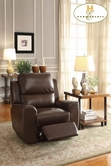 Home Elegance Gannet 8529BRW-1 CHAIR, RCLNER, BRW BNDED MATCH