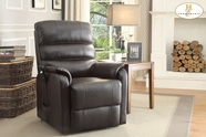 Home Elegance Kellen 8545-1LT POWER Lift Chair, Dark Brown Bonded Leather