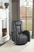 Home Elegance Lucio 8533BLK-1PW POWER SWIVEL RCLNR CHAIR, BLK P/U