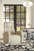 Home Elegance Lucio 8533TPE-1PW POWER SWIVEL RCLNR CHAIR, TAUPE P/U